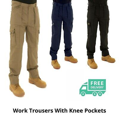 £16.59 • Buy Mens Premium Quality Work Trousers By SITE KING Size 32 To 40; Black Navy Khaki