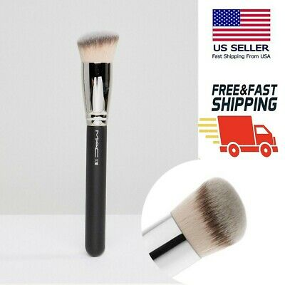 $11.40 • Buy MAC170 Synthetic Rounded Slant Foundation Brush For With A Smooth Even Finish