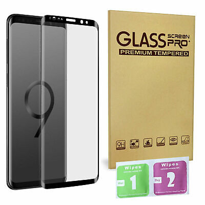 $ CDN4.97 • Buy For Samsung Galaxy S9 Plus 100% Genuine Tempered Glass Screen Protector Black UK