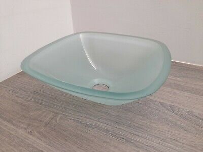 £18 • Buy ~~BIG DISCOUNT~~ 😉 Square Countertop Bathroom Basin Frosted Glass 31cm - FAULTY
