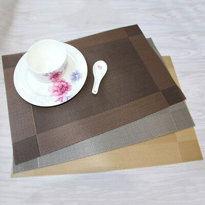 AU4.74 • Buy Waterproof Dining Table Placemats Mats Set Non Slip Insulation Washable PVODS5