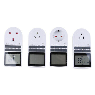 £6.80 • Buy Digital Electrical Timer Plug Socket Weekly Programmable Light Switch MS5