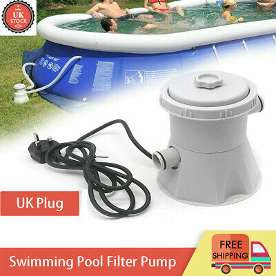 £22.99 • Buy 240V Electric Swimming Pool Filter Pump Clean Above Ground Pools Cleaning Tools