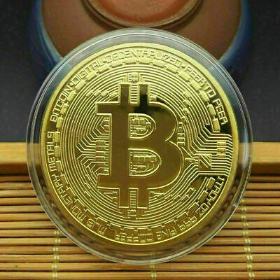 AU13.99 • Buy 5Pcs Gold Bitcoin Commemorative New Collectors Gold Plated Bit Coin
