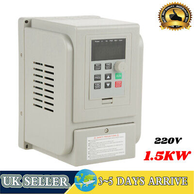 £65.16 • Buy 1.5KW AC 220V Single To 3 Phase VFD Variable Frequency Drive Inverter Adjustable