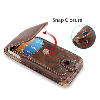 AU17.99 • Buy Vertical Cell Phone Holster Pouch Wallet Case With Belt Clip For IPhone Samsung