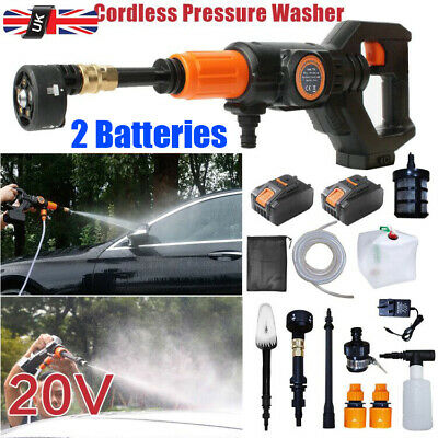 £89.99 • Buy Portable Cordless Electric Pressure Washer Water Jet Wash Patio W/2 Battery