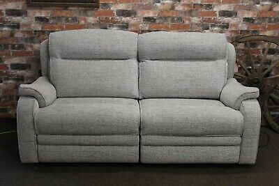 £1199 • Buy Parker Knoll Boston Electric Recliner Large 2 Seater Sofa In Grey Fabric