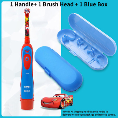 AU52.07 • Buy Oral B Kid Electric Toothbrush Soft Brush Head Replaceable Cartoon Battery Power