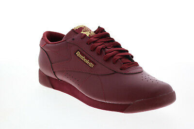 £32.99 • Buy Reebok Freestyle Lo GZ8654 Womens Red Leather Lifestyle Trainers Shoes