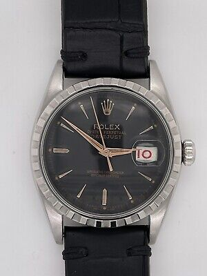 $ CDN6665.61 • Buy Vintage Rolex Datejust 6605 Stainless Steel Automatic Watch - 36mm - Black Dial