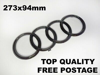 £5.98 • Buy Black Gloss Front Grille Badge Logo Emblem FOR Audi A3 A4 A5 A6 S Line 273x94mm