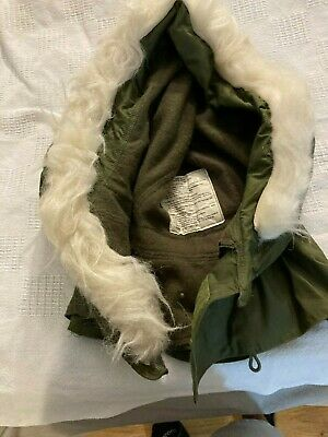 $12 • Buy Vintage US MILITARY EXTREME COLD-WEATHER HOOD W/SYNTHETIC FUR RUFF For M-65 COAT
