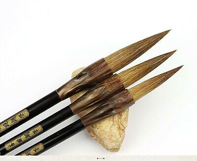 £29.32 • Buy 3Pcs/Set Brushes Weasel Hair Chinese Calligraphy Painting Drawing Tools
