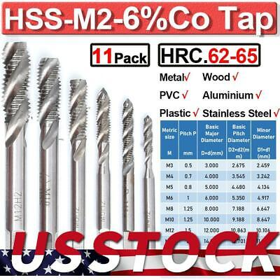 $7.79 • Buy Spiral Metric Tap Set Right Hand Thread Cutter Machine Taps For Stainless Steel