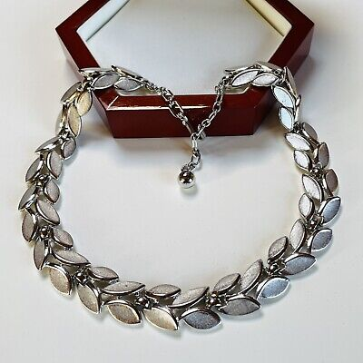£15 • Buy Vintage Jewellery Signed Crown Trifari Silver Plated Necklace