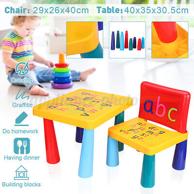 £19.03 • Buy ABC Table Chair Set Alphabet Childrens Plastic Kids Toddlers Childs School Gift
