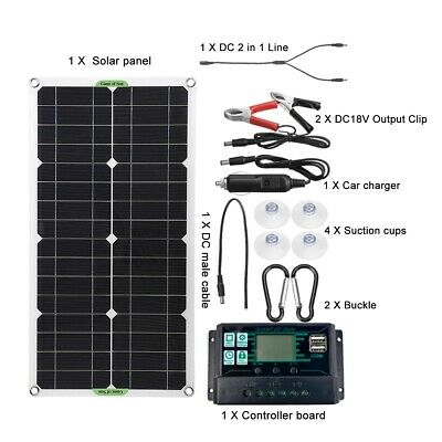 £72.06 • Buy 250W Solar Panel Kit  Complete With DC 2 In 1 Line  60A/100A Controller Portable