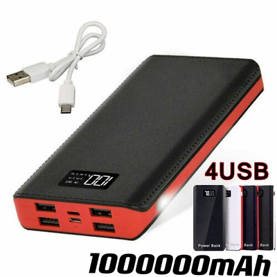 AU26.99 • Buy 500000mAh Power Bank Charger Battery Pack Portable LCD 4 USB For Mobile Phone AU