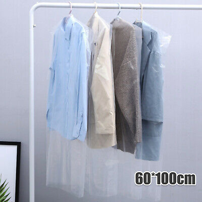 £9.59 • Buy SET OF 50 Clear Polythene Garment Covers Clothes Suit Dress Dry Cleaner Bags