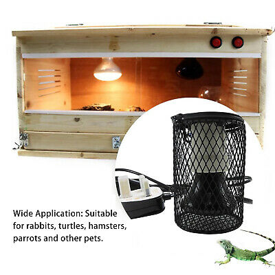 £16.71 • Buy Safety Anti-hot Cage Switch Reptile Ceramic Heating Light Bulb Lamp Holder New