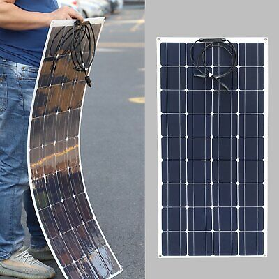 £21.84 • Buy Portable 100W 12V Solar Panel Battery Charger Controller Car Van Camping Boat