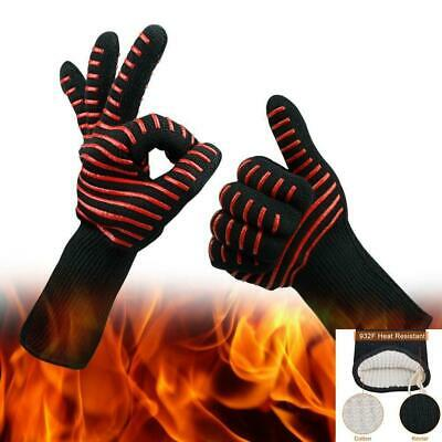 £9.99 • Buy 1 Pair Heat Resistant BBQ Gloves Pot Holder Cooking 500℃ Burn Fire Proof Glove