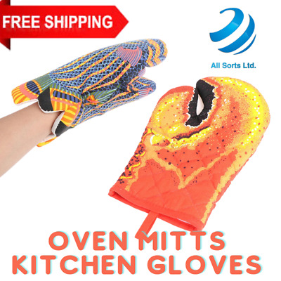£10.89 • Buy Cooking Oven Gloves Heat Proof Lobster Claws Shaped Grills BBQs Mitts Anti Slip