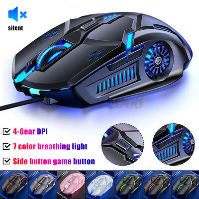 AU13.12 • Buy LED Wired Wireless Gaming Mouse USB Ergonomic Optical For PC Laptop Rechargeable