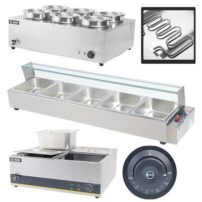 £119.95 • Buy Stainless Steel Bain Marie Electric Wet Heat Food Warmer Commercial GN Pan &Lid