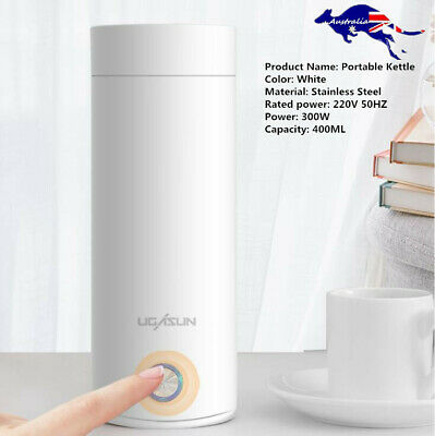 AU29.09 • Buy 400ml Portable Electric Kettles Thermal Cup Smart Travel Water Boiler Keep Warm