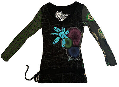£18 • Buy Desigual Long Sleeve T-shirt Top In Black More For Less Size M Ex Cond Tunic