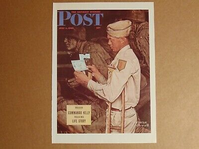 $ CDN15.11 • Buy Saturday Evening Post July 1,1944  (REPRINT) Norman Rockwell (COVER ONLY)