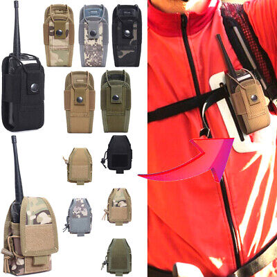 $6.99 • Buy Portable Tactical Military Pouch Walkie Talkie Bag Radio Holder Case Waist Bag