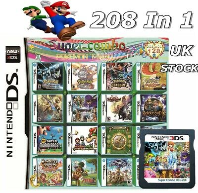 £11.99 • Buy 208 In1 Games Cartridge Card Multicart For Nintendo DS NDS NDSL NDSI 2DS 3DS UK