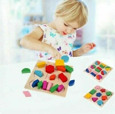 £5.19 • Buy Wooden Shape Sorter Sorting Puzzle Educational Baby Toddler Toy Modern W21