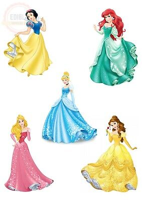 £4.40 • Buy A4 Disney Princesses Cut Outs Cake Topper Available On Rice Paper Or Icing Sheet