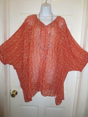 £15.66 • Buy THE NICOLE RICHIE COLLECTION Womens Plus ORANGE DOTTED Blouse SHIRT Size 2X 3X
