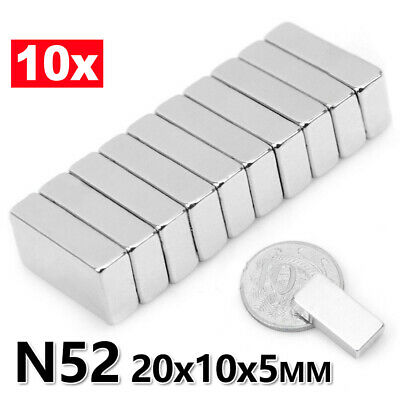 AU7.29 • Buy N52 Super Strong Magnets Block Rare Earth Cuboid Neodymium Super Strong Magnet