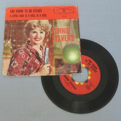 $6.99 • Buy CONNIE STEVENS • Too Young To Go Steady (1960 US PS & 45) LISTEN MP3