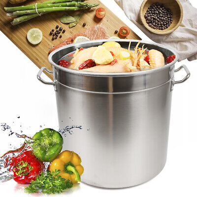 £60 • Buy 35L Stainless Steel Deep Stock Soup Boiling Pot Cater Cooking Stew Pan W/Lid NEW