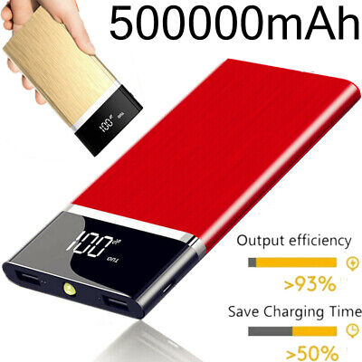 AU26.99 • Buy 500000mAh Power Bank Charger Dual USB High Capacity Fast Charging Battery Pack