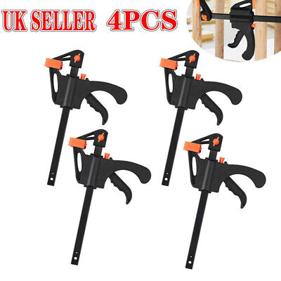 £22.39 • Buy 4PCS 12  Wood Working F Clamp Grip Ratchet Quick Release Squeeze Hand Tools UK