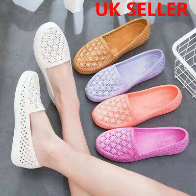 £6.99 • Buy Womens Slip On Shoes Ladies Low Wedge Pumps Comfy Casual Loafers Trainers Size