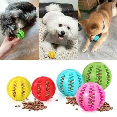 £4.39 • Buy Pet Dog Puppy Ball Teething Durable Treat Clean Ball Chew Dog Interactive Toy UK