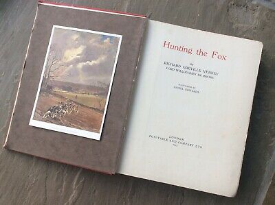 £4.99 • Buy Hunting The Fox Fox Hunting Verney 1925 Illustrated Lionel Edwards 1925 Book
