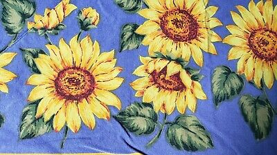 £24.04 • Buy Sunflowers.provence Blue Reversable French Cotton Tablecloth 55  X 80