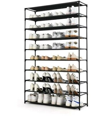 AU46.76 • Buy 50 Pairs Shoe Tower, Non-woven Fabric&Metal Storage Cabinet Shoe Rack