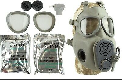 $68.77 • Buy Czech Military M10M GAS MASK WITH DRINKING STRAW,  LIKE M-17 NUCLEAR BIOLOGICAL