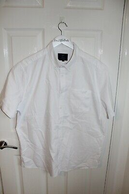 £6.99 • Buy Atlantic Bay XL White Oxford Cotton Short Sleeve Button Up Shirt Mens CLEARANCE